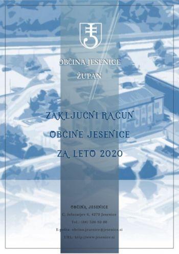 Zaključni račun proračuna občine Jesenice leto 2020