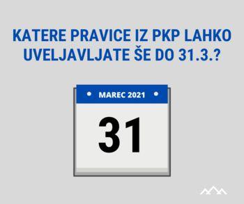 Katere pravice iz protikorona paketov lahko uveljavljate še do 31. 3. 2021