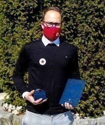Prostovoljni bolničar RKS Žiga Bizjak je heroj korone
