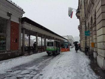V Ljubljano se je vrnila zima