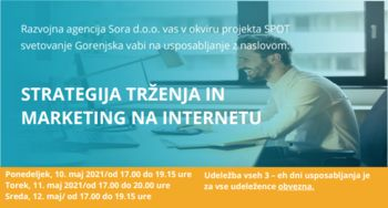 On-line usposabljanje: »STRATEGIJA TRŽENJA IN MARKETING NA INTERNETU«