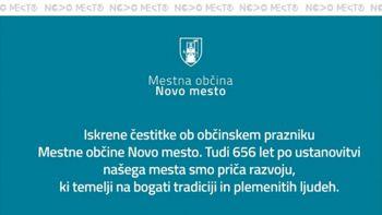 Čestitka občanom ob prazniku Mestne občine Novo mesto