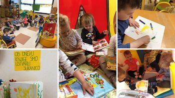 Svetovni dan knjige obeležili tudi na OŠ Grm in OŠ Center ter v Vrtcu Brusnice