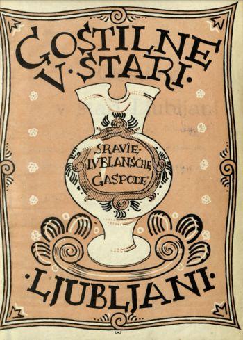 Digitalizirana publikacija Gostilne v stari Ljubljani
