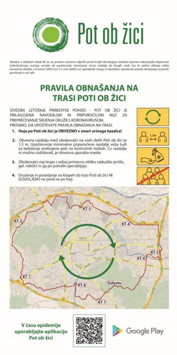 Pravila obnašanja na trasi Poti ob žici