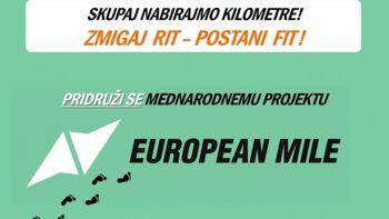 Vabilo k sodelovanju v mednarodni akciji z dobrodelno noto European Mile