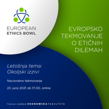 Študentke in študenti, vabljeni na European Ethics Bowl