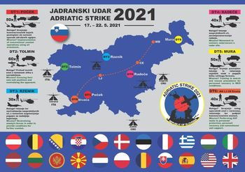 Mednarodna vojaška vaja med 17. in 22. 5. 2021