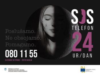 Društvo SOS telefon za ženske in otroke s 24-urno brezplačno linijo za pomoč žrtvam nasilja