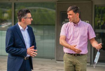Župan Račič o lokaciji regijske bolnišnice s predsednikom LMŠ Marjanom Šarcem
