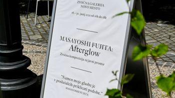 Glavni trg s poletno atrakcijo – zvočno galerijo Novo mesto