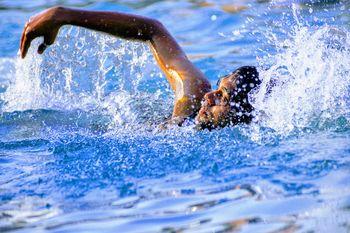 Rekreativno plavanje za odrasle na kopališču Kolezija