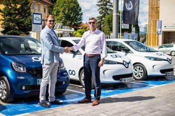 Z županovo vožnjo v Novem mestu zagnali sistem souporabe vozil