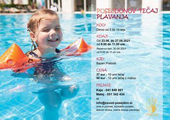 Tečaj plavanja za otroke na Bazenu Prebold v avgustu