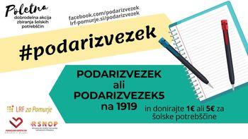 Poletna dobrodelna akcija zbiranja šolskih potrebščin #podarizvezek