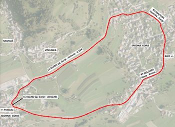 Začasna sprememba prometnega režima od križišča v Spodnjih Gorjah proti Kočni