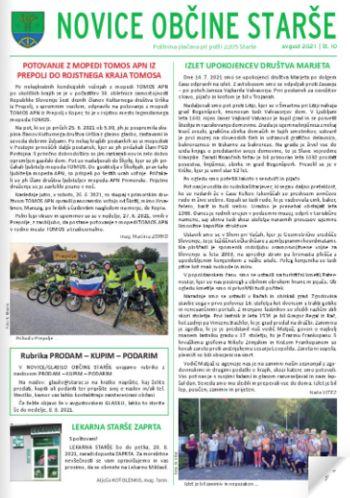 Nova izdaja Novic Občine Starše
