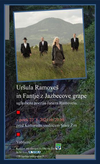 ODPOVEDANO: Uršula Ramoveš in Fantje z Jazbecove grape