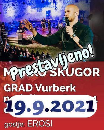 Obvestilo o prestavitvi koncerta Marka Škugorja