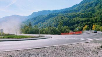 Cesta od Elima proti Betonarni Sava na Hrušici zaprta za motorna vozila