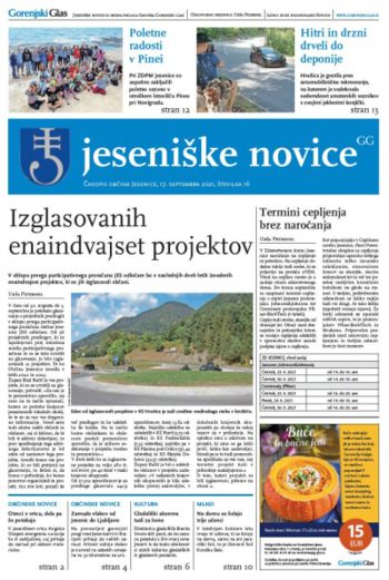 Jeseniške novice, 17. september 2021-16
