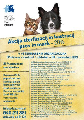 Akcija za sterilizacijo in kastracijo psov in mačk
