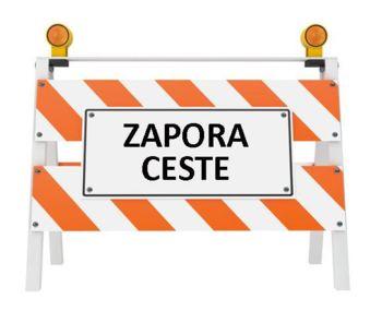 Zaprta lokalna cesta Žiri – Račeva – Smrečje na odseku Noč – Debenc