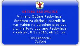 Praznik Občine Radovljica 11. december