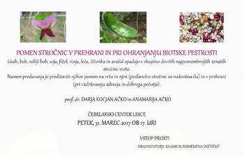 Predavanje o pomenu stročnic v prehrani in pri ohranjanju biotske pestrosti