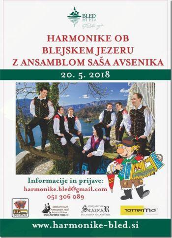6. srečanje harmonikaric in harmonikarjev ob Blejskem jezeru z ansamblom Saša Avsenika