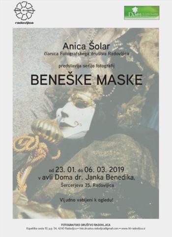 """Fotografska razstava """"Beneške maske"""""""