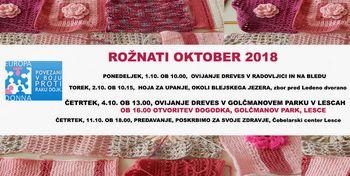 Rožnati oktober 2018 v Radovljici, na Bledu in v Lescah