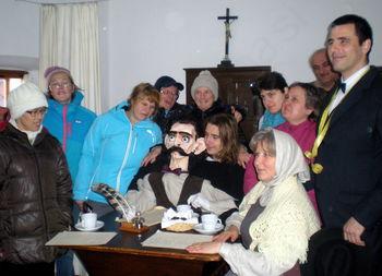 Prijatelji iz VDC na obisku pri Ivanu Cankarju