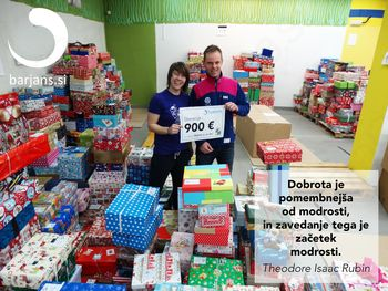 Podjetje Barjans d.o.o. z Vrhnike doniralo za akcijo Božiček za en dan