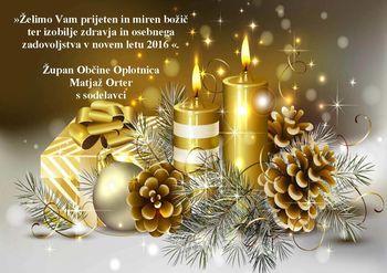 Božično - novoletno voščilo