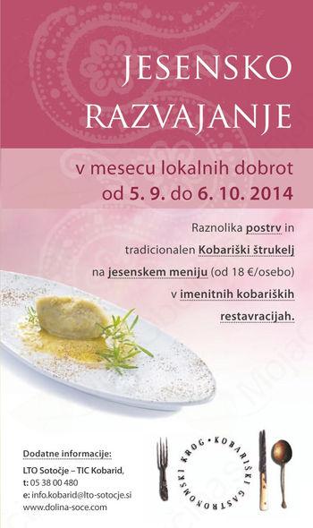 Jesensko razvajanje s Kobariškim gastronomskim krogom