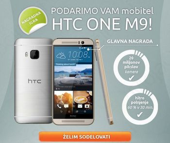 Osvoji HTC One M9 in snemaj 4k filme ter zajemaj 20MP slike