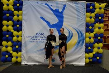 Uvrstitev v finale na svetovnem prvenstvu v twirlingu – 6. mesto med 14 pari na svetu