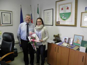 Župan sprejel svetovno prvakinjo v balinanju Tadejo Sodec
