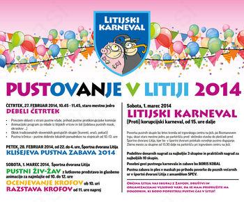 Pustovanje v Litiji 2014