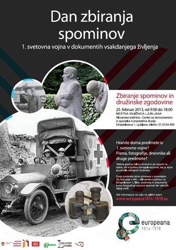 Dan zbiranja spominov na 1. svetovno vojno