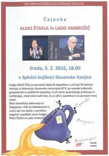 Čajanka: Aleks Štakul in Lado Ambrožič