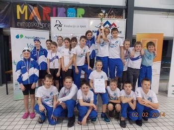 Izjemni uspehi plavalcev Fužinarja na zimskem državnem prvenstvu