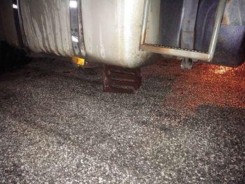 Nesreča na parkirišču za tovornjake