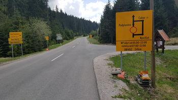 Zapora regionalne ceste Trava - Črni Potok