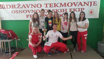 Ekipa učenk OŠ Boštanj – državne prvakinje v prvi pomoči