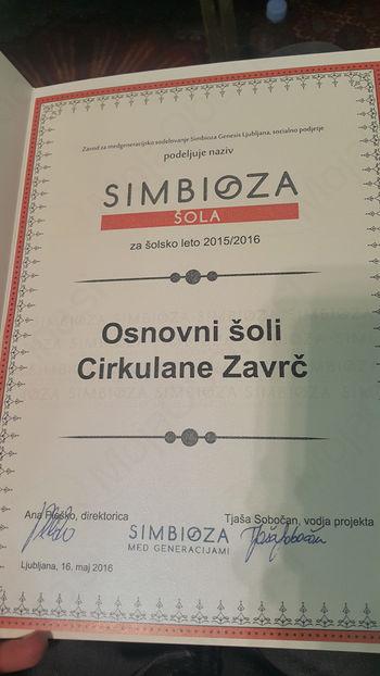 OŠ Cirkulane-Zavrč prejela naziv Simbioza@šola