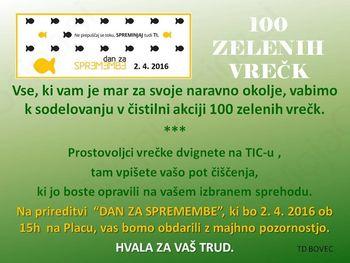 100 zelenih vrečk