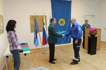 Poveljnik Civilne zaščite Občine Miren-Kostanjevica, Dean Bizjak, prejemnik bronastega znaka CZ RS
