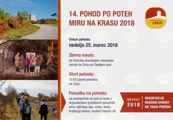 14. pohod po Poteh miru na Krasu 2018